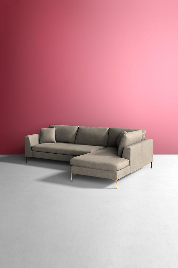 Edlyn Right Corner Sofa, Performance Linen - Beige