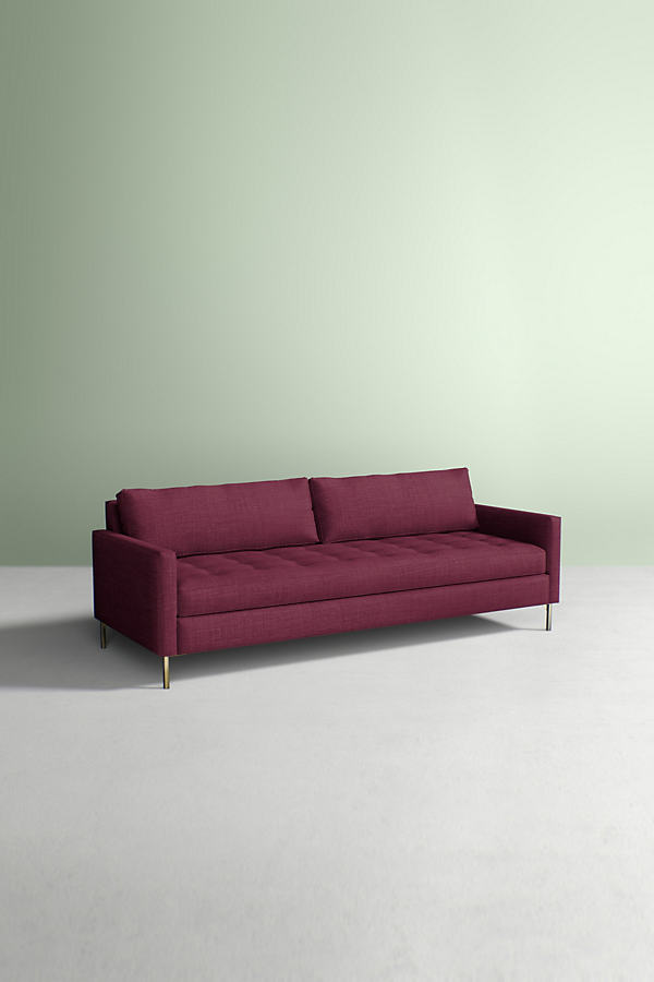 Angelina Sofa, Performance Linen - Purple