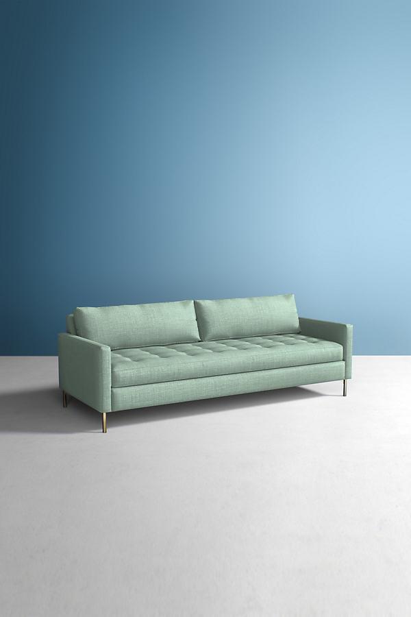Angelina Sofa, Performance Linen - Mint