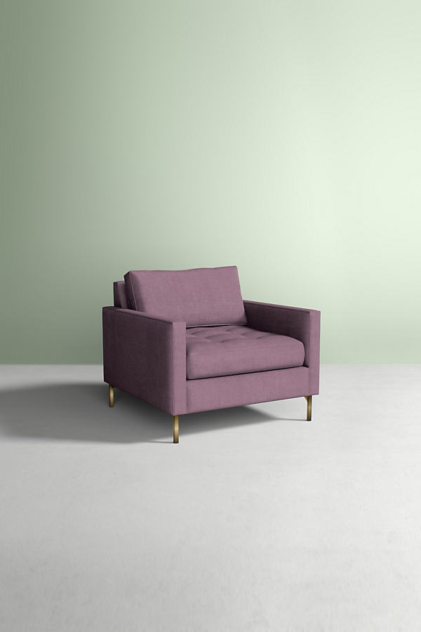 Angelina Chair, Performance Linen - Purple