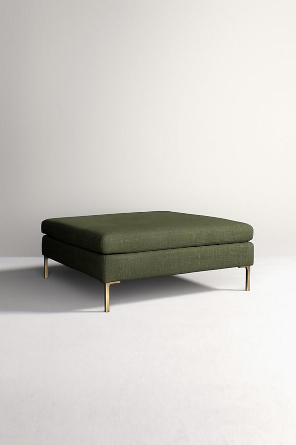 Edlyn Grand Ottoman, Performance Linen - Green
