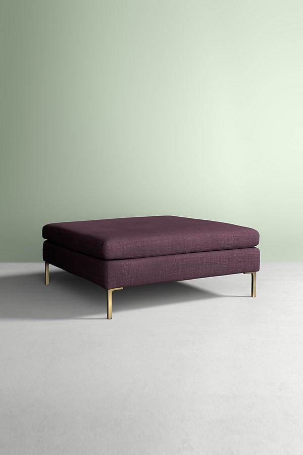 Edlyn Grand Ottoman, Performance Linen - Purple