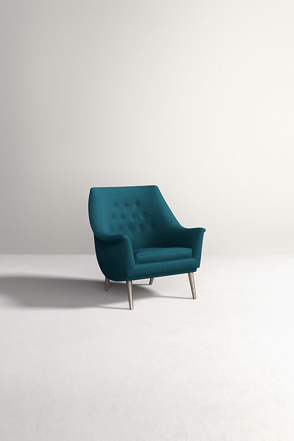 Lucha Chair, Performance Linen - Blue