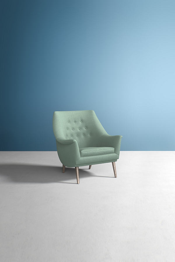 Lucha Chair, Performance Linen - Mint