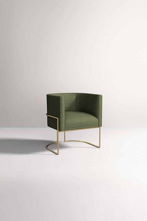 Caddell Chair, Performance Linen - Green