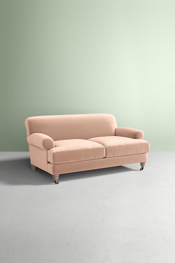 Willoughby Slub Velvet Sofa, With Wilcox Leg - White