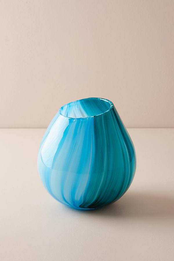 Lilith Vase in abgestimmten Farbtönen - Blue