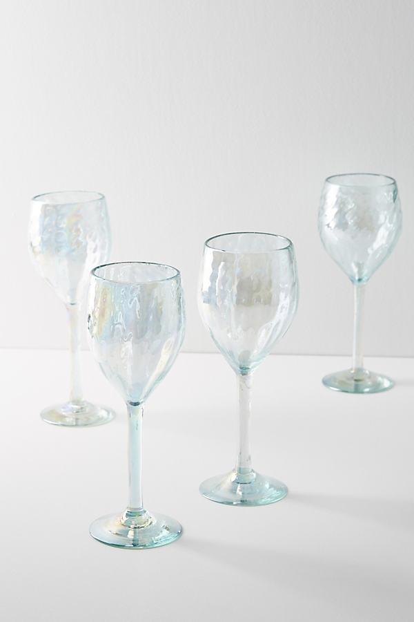 Set of 4 Narita Wine Glasses - Blue, Size S/4 Wine Glass