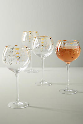 Slide View: 1: Celine Wine Glasses, Set of 4