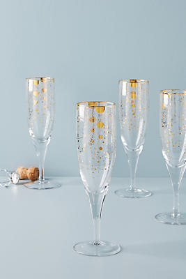 Slide View: 1: Celine Flutes, Set of 4