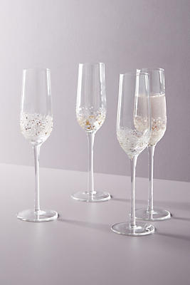 Volcania Flutes, Set Of 4 by Anthropologie
