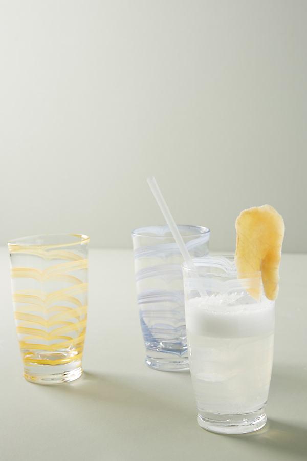 Set of 4 Lottie High Ball Glasses - White, Size S/4Tumbler