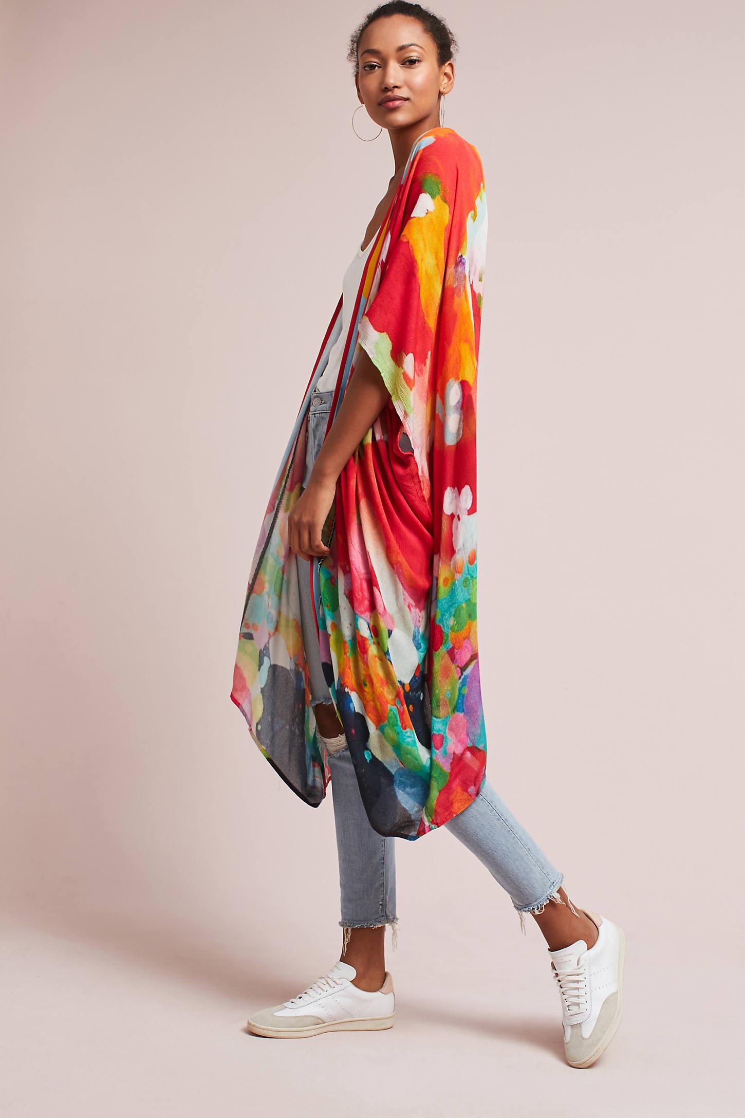 Marceline Beaded Long Kimono
