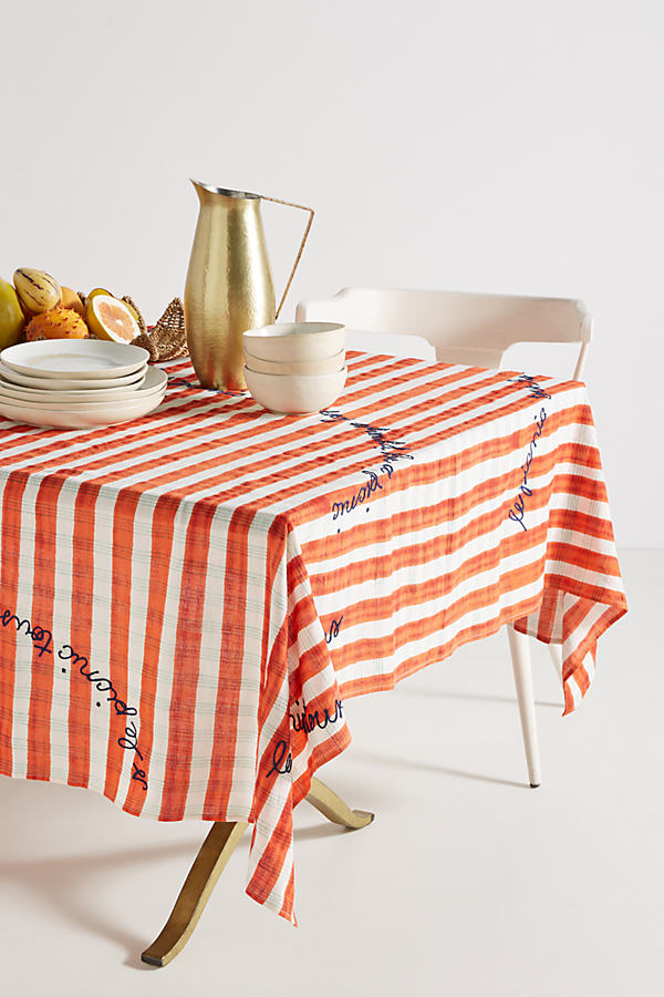 Abeline Tablecloth - Red Motif, Size Dbl Duvet
