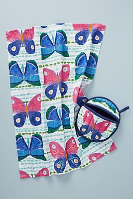 Slide View: 2: Paule Marrot Butterfly Oven Mitt