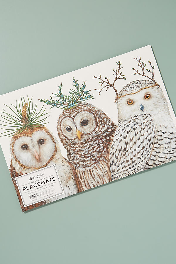 Birdsong Placemat Pad - Grey, Size Placemat