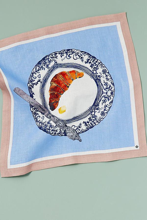 Pictorial Print Napkin - Blue, Size Napkin