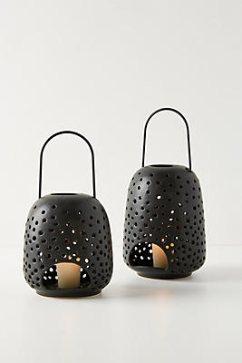 Slide View: 5: Black Ceramic Lantern