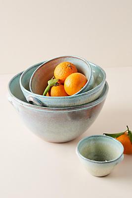 Slide View: 1: Misty Bowls, Set of 4