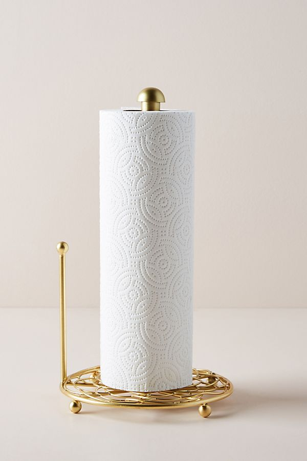 Slide View: 1: Scalloped Paper Towel Holder