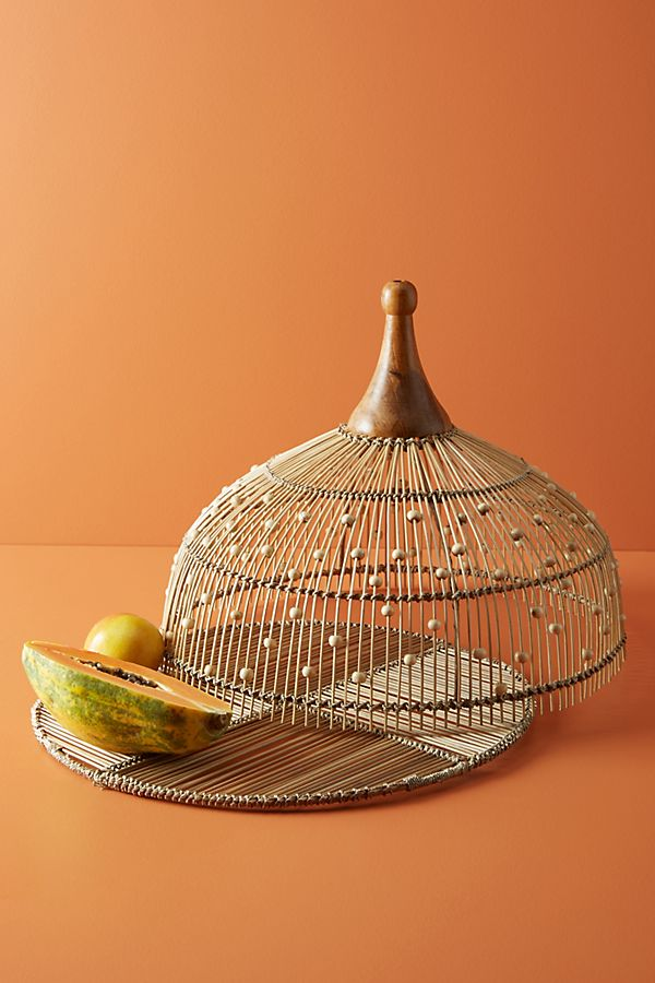 Slide View: 1: Annika Decorative Beaded Food Dome