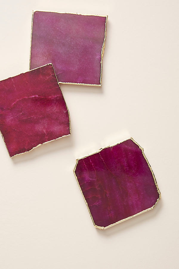 Slivered Geode Coaster - Purple, Size Coasters