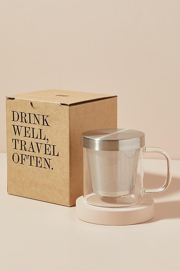 Paper & Tea Brewing Mug - Silver, Size Mug