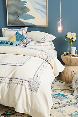Slide View: 1: Embroidered Timaru Duvet Cover
