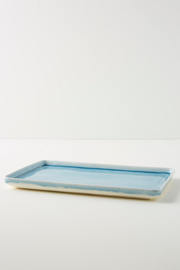 Calpe Serving Tray - Blue, Size Pltr/tray