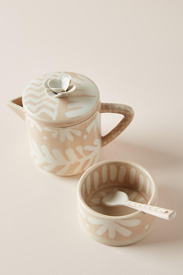 Anna Westerlund Gloria Sugar Pot and Creamer Set - Orange, Size Creamer