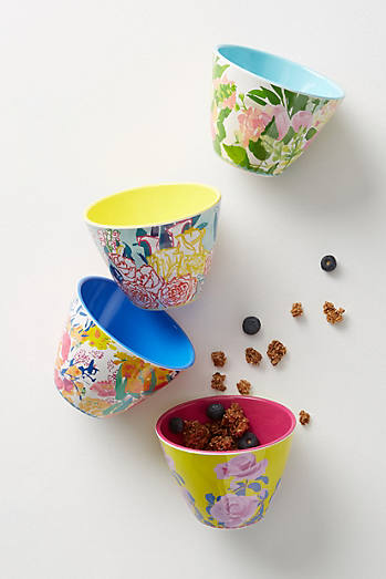 Paint + Petals Melamine Nut Bowls, Set of 4