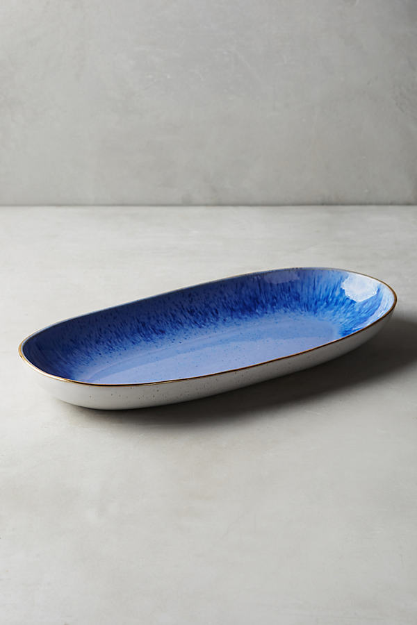 Perasima Platter - Blue, Size Pltr/tray