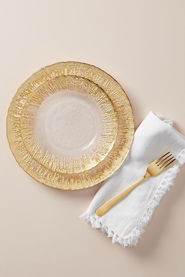 Thistlewhit Dinner Plate - Gold, Size Dinner