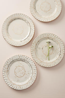 Slide View: 1: Celine Dinner Plates, Set of 4