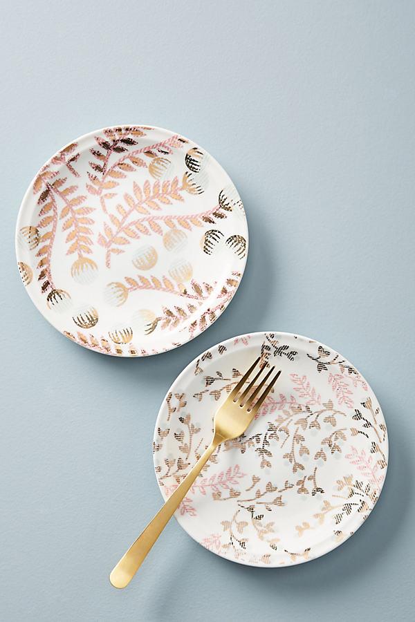 Livinia Canape Plate - Pink, Size Canape Pla