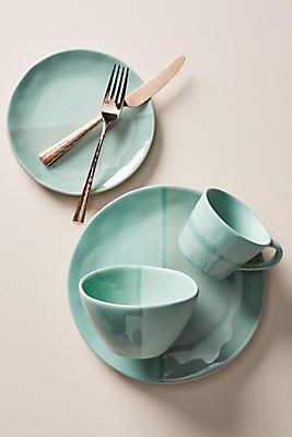 Slide View: 1: Keegan Dinner Plates, Set of 4