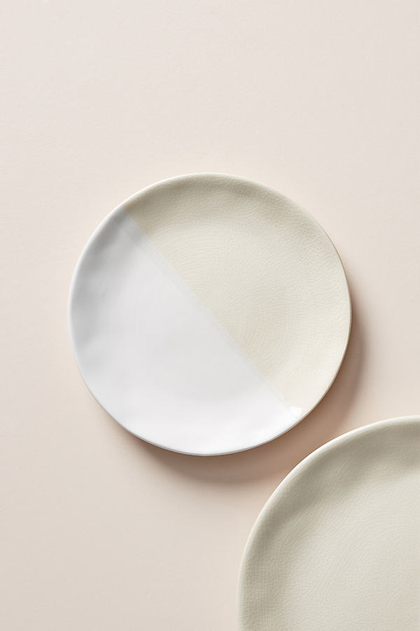 Set of 4 Keegan Side Plates - White, Size S/4 Side P
