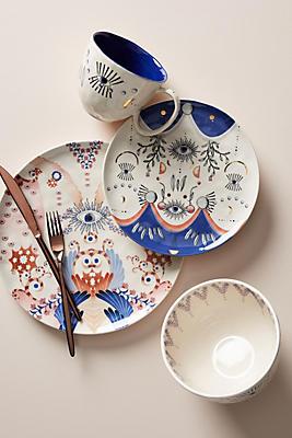 Slide View: 1: Longina Phillips Echo Dinner Plates, Set of 4