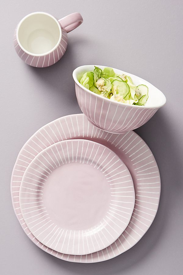 Slide View: 1: Violette Dinner Plates, Set of 4