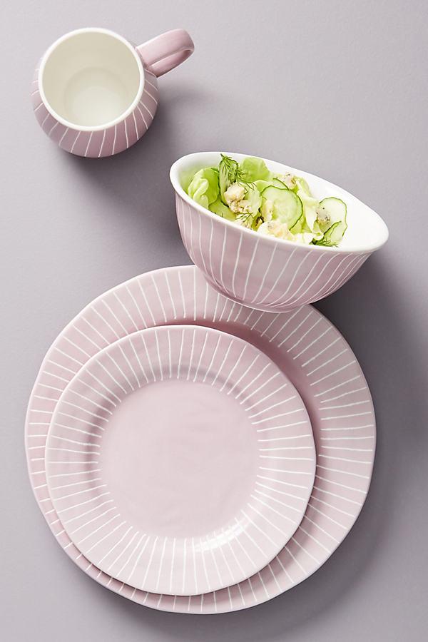 Set of 4 Violette Dinner Plates - Purple, Size S/4 Dinner