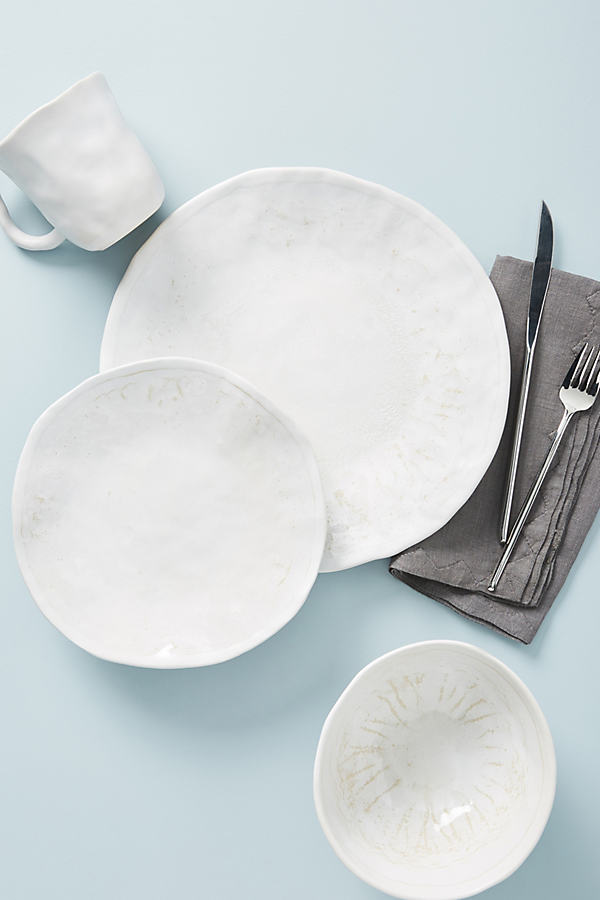 Diamonte Dinner Plate - White, Size Dinner