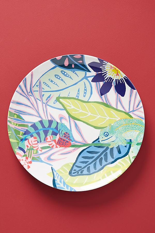 Tropical Melamine Dinner Plate - Assorted, Size Dinner