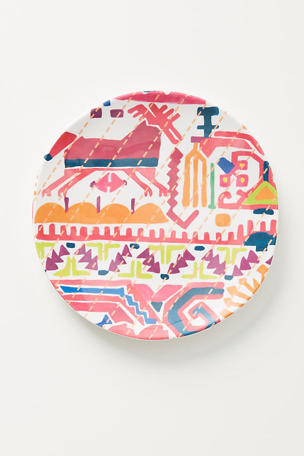 Hailee Canape Plate - Pink, Size Canape Pla