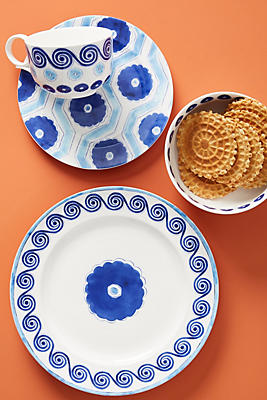 Slide View: 2: Clover Dinner Plates, Set of 4
