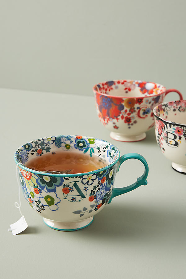 Tea Time Monogram Mug - Assorted, Size U