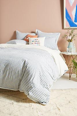 Slide View: 1: Relaxed Cotton-Linen Duvet Cover