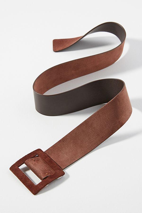 Slide View: 1: Reversible Brown Violetta Belt