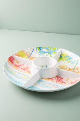 Sunscene Melamine Chip & Dip by Anthropologie