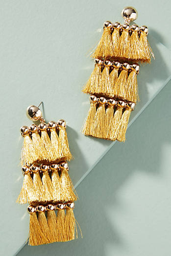 Tiered Tassel Drop Earrings