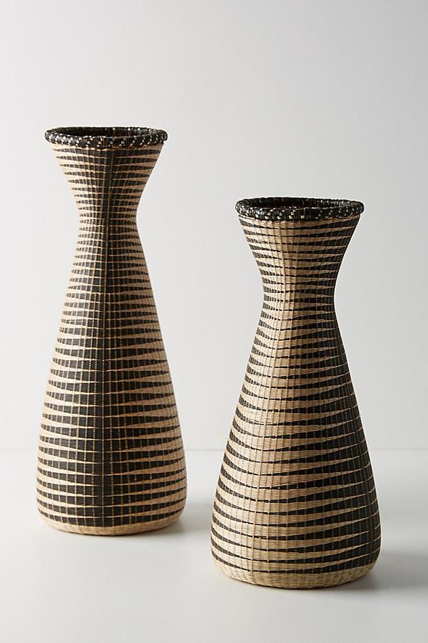 Woven Aurora Vase - Beige, Size S